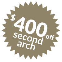 $400 off second arch