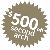 $500 off second arch